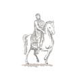 Roman emperor soldier riding horse vector image vector image