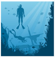 scuba diving snorkeling flat vector image vector image