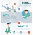 Set of dental infographics vector image