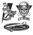set street activities emblems vector image vector image