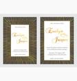 set wedding invitations on a dark black gray vector image