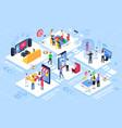 smart home shopping online virtual team medicine vector image vector image