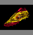 soccer football boot with the flag of spain vector image