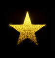 star with glowing particles isolated vector image