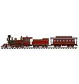 Vintage american train vector image vector image