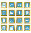 waste and garbage icons azure vector image vector image