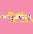 web design word concept vector image vector image