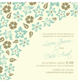 Wedding invitation with blue flowers vector image vector image