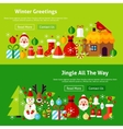 Winter Greetings Website Banners vector image vector image