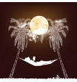 woman reading moonlight vector image vector image
