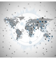 world map for communication vector image vector image