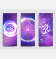 yoga mat design set colorful template vector image
