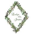 73 floral card design green fern forest leaves vector image vector image