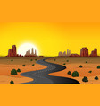 a desert road background vector image vector image