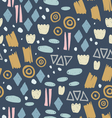 Abstract pattern with fun trendy shapes vector image