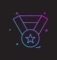 award medal winner icon design vector image