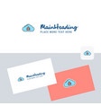 bug on cloud logotype with business card template vector image