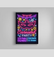 carnival party design template brochure poster vector image