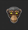 chimpanzee logo design template head vector image