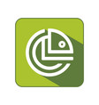 circle chameleon flat icon template vector image