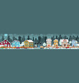 city life winter vector image vector image