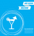 cocktail party martini icon on a blue background vector image