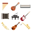 collection musical instruments vector image