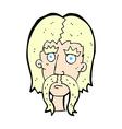 comic cartoon man with long mustache vector image vector image
