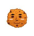 cookies sleeps emoji biscuit emotion sleep food vector image vector image