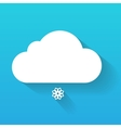 Day cloud and snow flake isolated on blue vector image vector image