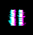 distorted glitch style pause media video file vector image vector image