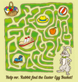 Easter Rabbit Maze Game vector image vector image
