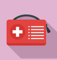 first aid kit icon flat style vector image