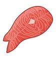 Fish steak vector image vector image