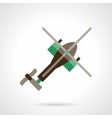 Flat design helicopter icon vector image