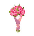 flowers bouquet floral gift for wedding or vector image vector image