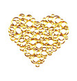 golden heart from circles valentines day vector image