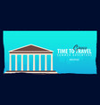 greece banner time to travel journey trip and vector image
