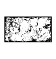 Grunge frame texture black white vector image vector image
