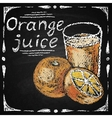 Hand drawn orange vector image vector image