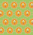 happy funny sun tongue out wallpaper pattern vector image