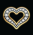 Heart in diamonds vector | Price: 1 Credit (USD $1)