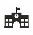 high school icon vector image