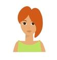Irish Woman Flat vector image