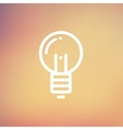 Light bulb thin line icon vector image