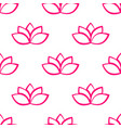 lotus flower seamless pattern vector image vector image