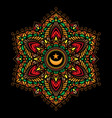 mandala color tattoos vector image