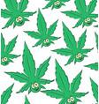 marijuana cartoon pattern background vector image vector image