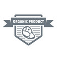 meat organic product logo simple style vector image
