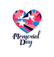 memorial day logo creative template for greeting vector image